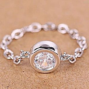 925 Silver Plated Chain Ring NWT